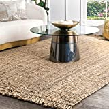 nuLOOM Natural Hand Woven Chunky Loop Jute Area Rug, 8' 6' x 11' 6'