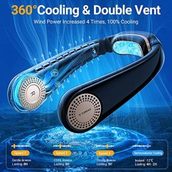 TORRAS-Coolify-Portable-Air-Conditioner-Neck-Fan-Hands-Free-Semiconductor-Cooling-Bladeless-Fan-4000-mAh-Rechargeable-Leafless-Mini-USB-Fan-for-Outdoor-Home-Office-3-Speeds-Brilliant-Black