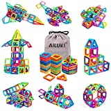 Magnetic Blocks,Ailuki 109 Pcs 3D Magnetic Building Blocks Set Magnet Building Tiles Educational Construction Kit for Children Creative Imagination Development Magnet Toys