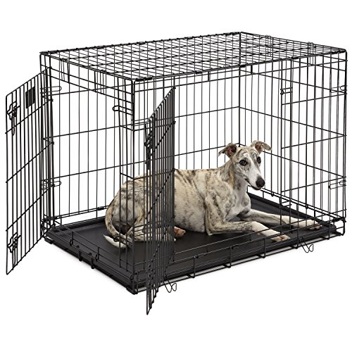 Dog Crate | MidWest Life Stages 36' Double Door Folding Metal Dog Crate |...
