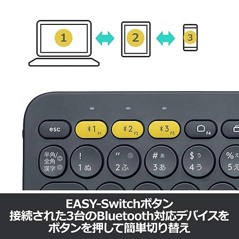 ロジクール ワイヤレスキーボード 無線 キーボード 薄型 小型 K380BK Bluetooth K380 ワイヤレス マルチOS: Windows Mac iOS Android Chrome