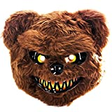 Tigerdoe Scary Mask - Halloween Bear Masks - Scary Animal Mask - Spooky Mask Brown
