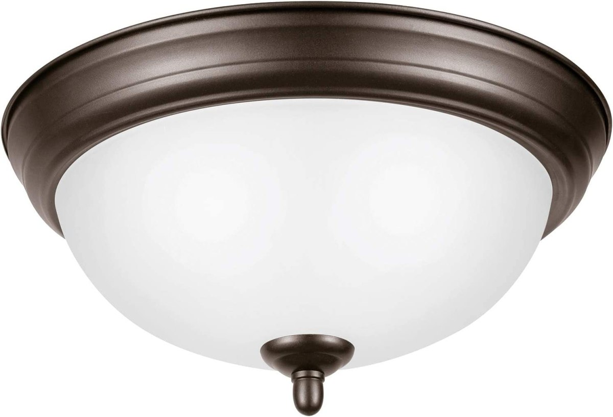 Ravenna Home Single-Light Flush-Mount Ceiling Light with Frosted Glass Shade