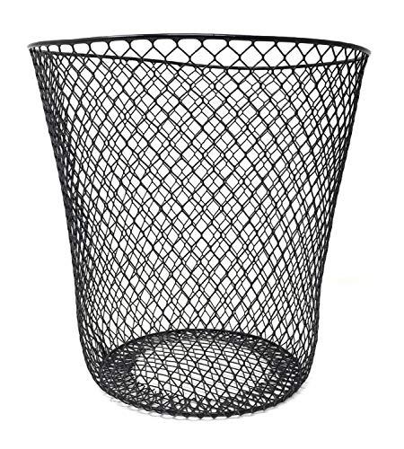 Essentials Wire Mesh Waste Basket (Black)