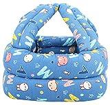 Simplicity Baby No Bumps Safety Helmet Head Cushion Bumper Bonnet, Blue Letter