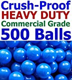 My Balls Pack of 500 Commercial Grade Blue Color Jumbo 3' Crush-Proof Ball Pit Balls - Phthalate Free, BPA Free, PVC Free, in Single Color (Blue, 500)