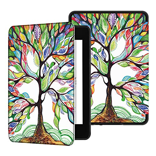 Ayotu Water-Safe Case for Kindle Paperwhite 2018 - PU Leather Smart Cover with Auto Wake/Sleep - Fits Amazon The Latest Kindle Paperwhite Leather Cover (10th Generation-2018),K10 Lucky Tree