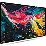 EleTab 120 inch Projector Screen Portable 16:9 HD Outdoor Indoor Projector Movies Screen Foldable Anti-Crease for Home Theater Support Front and Rear Projection