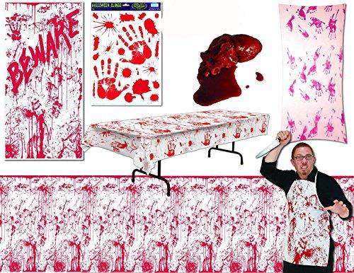 Bloody Gory Halloween Decor Assortment (7/pkg) Pkg/1