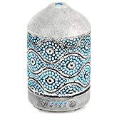 Arvidsson Essential Oil Diffuser, Metal Aromatherapy Diffusers for Essential Oils, 7 Color Light Oil Diffuser Humidifier, Best Christmas Gifts