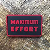 Maximum Effort Deadpool PVC Rubber Tactical Morale Patch - Hook Backed with Loop Fastener Backing Attachment Piece That Can Be Sewn On by NEO Tactical Gear