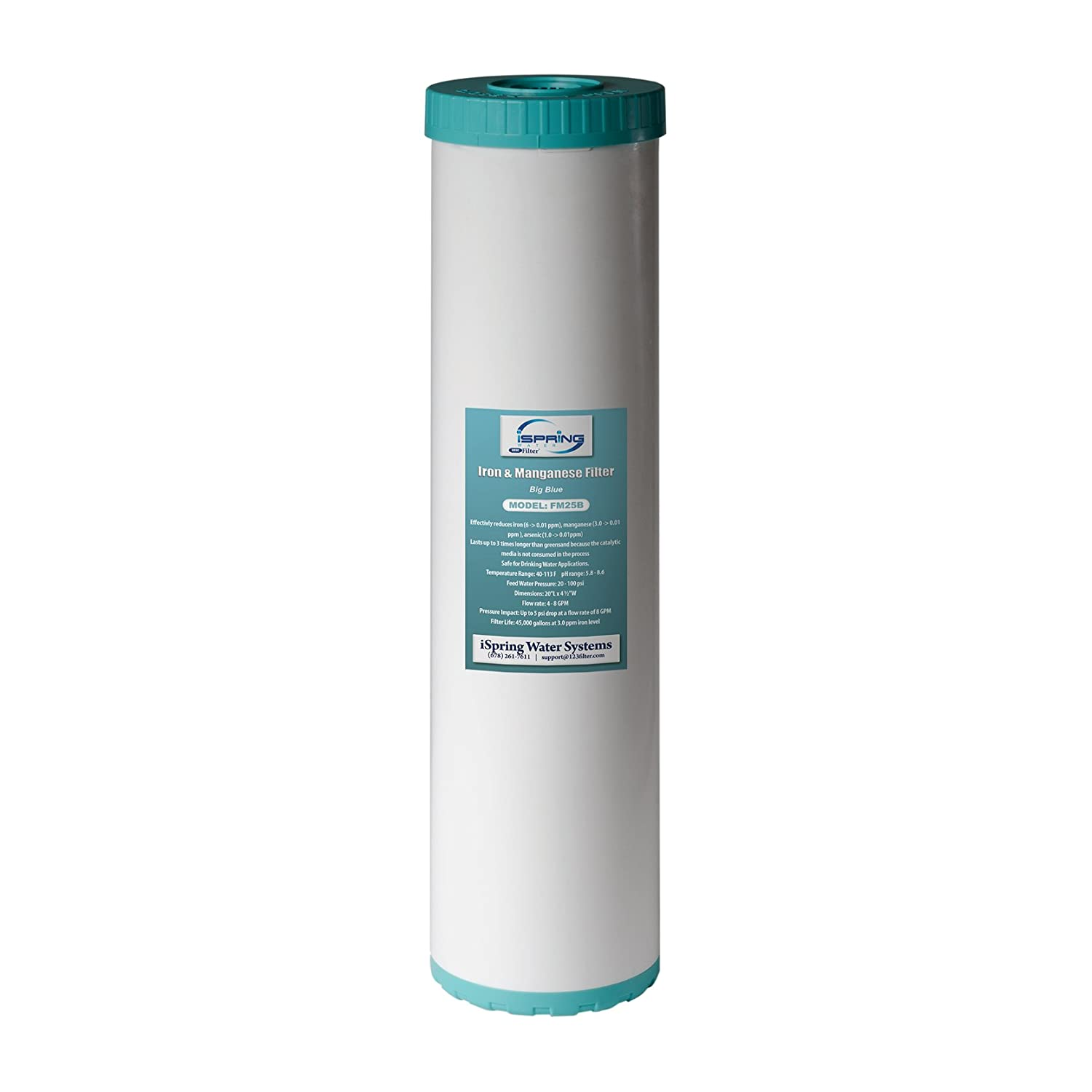 iSpring Big Blue High Capacity Iron Reducing Replacement Water Filter