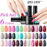 Gellen Pick Any 6 Colors Soak Off Gel Nail Polish 300 Colors Available