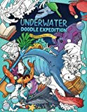 Underwater Doodle Expedition: A Magical Coloring Book for Adults and Kids (Fishes, Animals, Ocean, Sea, Nature)