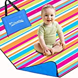 Lantoo Extra Large Outdoor Picnic Blanket 79'x79', Extra Soft Portable Beach Blanket Mat W/Compact Tote, Foldable, Machine Washable Camping Hiking Travel