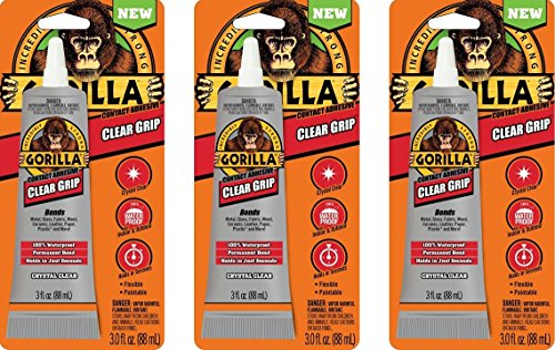 Gorilla Clear Grip Contact Adhesive,...