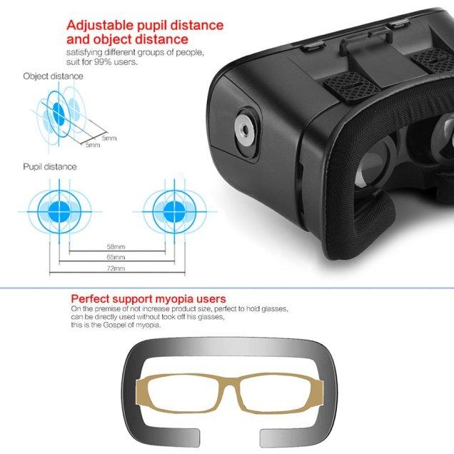 Arealer 3D VRメガネ 3Dゴーグル 仮想現実感 超3D映像効果 iPhone Samsungなど3.5 - 6.0インチのスマホに適用