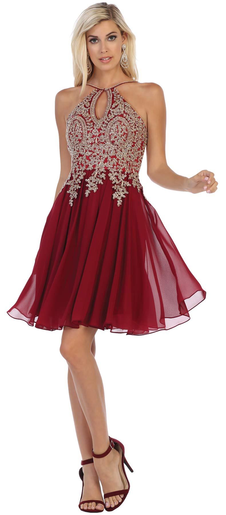 Formal Dress Shops Inc Fds1646 Semi Formal Dance Classy Short Dress