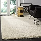 Safavieh California Premium Shag Collection SG151-1212 Ivory Area Rug (4' x 6')