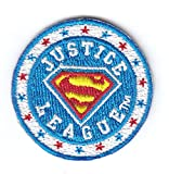 SUPERMAN LOGO-JUSTICE LEAGUE PATCH-DC COMICS- Iron On Patch/TV, Movie,Cartoons,