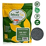Gourmet Premium Grade Loose Leaf Earl Grey Delicacy Black Tea, Makes 100 Cups of Complex, Full-Bodied, Delicious Tea, Natural & Pure Ceylon Leaf with Bergamot Flavor from iCulinary, Zipper Pouch, 8oz