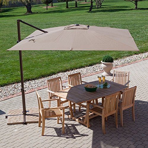 Treasure Garden 8.5-ft. Square Offset Patio Umbrella