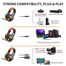G2000 Stereo Gaming Headset for Xbox one PS4 PC 2
