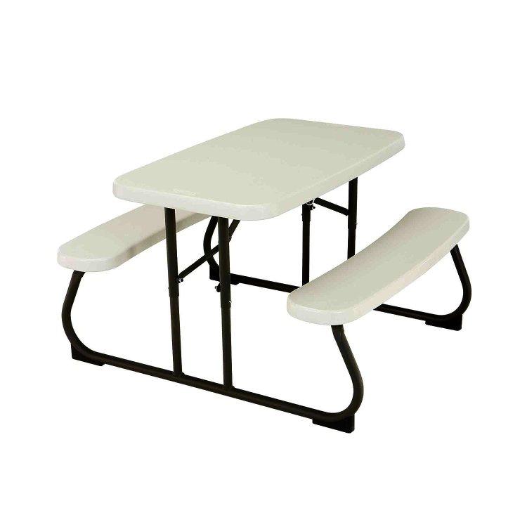 White Folding Picnic Table For Children