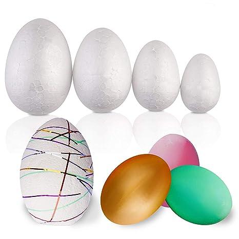 Confezione Da 50 Pezzi Grande Assortimento Di Uova Di Pasqua In Polistirolo Varietà Di Formati Regalo Pasquale Ideale Per I Bambini Per