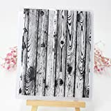 Seaskyer Wooden Floor Clear Stamps Sheet Transparent Silicone Seal For DIY Scrapbooking Craft Card Photo Album Decorative, Christmas Valentine's Day Halloween Gift