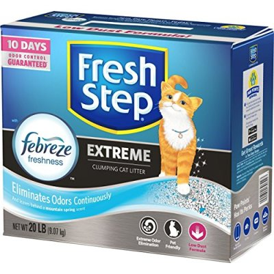 Fresh Step Scented Litter with The Power of Febreze, Clumping...