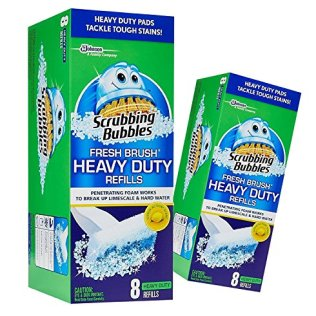 2-Pack-Scrubbing-Bubbles-Fresh-Brush-HEAVY-DUTY-Refills-8-ct-ea