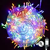 Vinsco String Lights, Plug in 300 LED 100 ft/30M [UL Listed] [Weatherproof] [8 Modes] Decorative Lighting for Bedroom Patio Indoor Outdoor Home Kids Room Christmas Xmas Tree Holiday Party-Multicolor