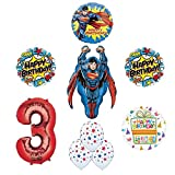Superman 3rd Birthday Party Supplies and Balloon Decorations