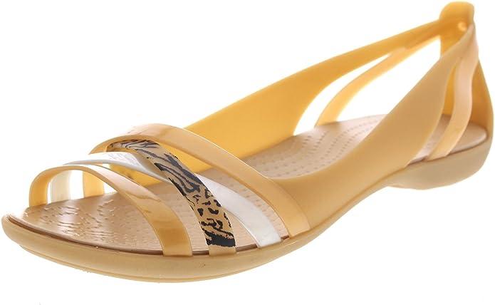 Crocs - Isabella Graphic Huarache Flat - Dark Gold desde