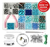 Modda Jewelry Making Supplies Kit - DIY Beading Kits for Teen Girls, Beginners, Mom, Teens Arts and Crafts - Includes All Tools, Beads, Charms and Instructions to Make Bracelets, Necklaces, Earrings