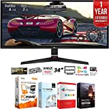 LG 34UM69G-B 34' 21:9 UltraWide IPS Gaming Monitor 2560 x 1080 with FreeSync + Elite Suite 18 Standard Editing Software Bundle + 1 Year Extended Warranty