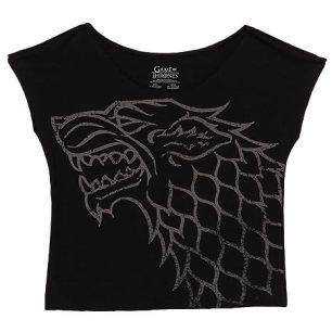Game of Thrones Stark Wolf Juniors Dolman-Black (Small)