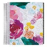 Erin Condren 12 month 2017 Life Planner - Watercolor Floral Vertical Neutral, Neutral Interior (AMA-12M 2017 32)