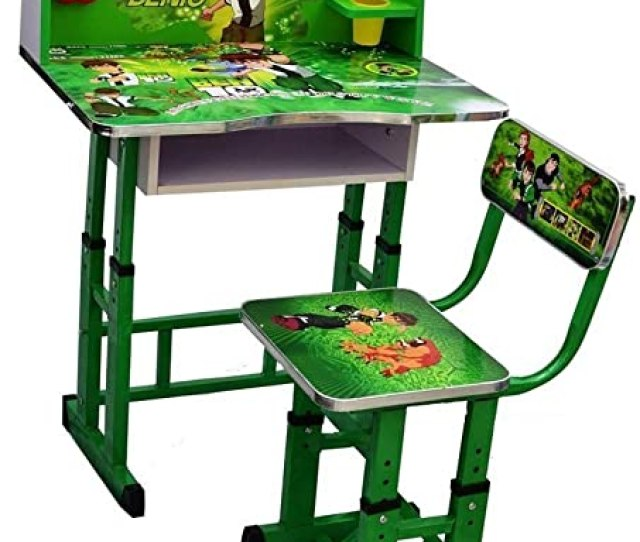 Kris Toy Ben 10 Printed Kids Wooden Study Table And Chair 3 10 Years