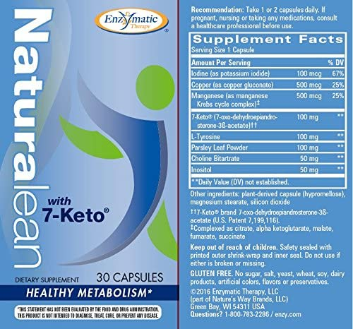 Enzymatic Therapy Naturalean with 7-Keto, Healthy Metabolism, 30 Count 4