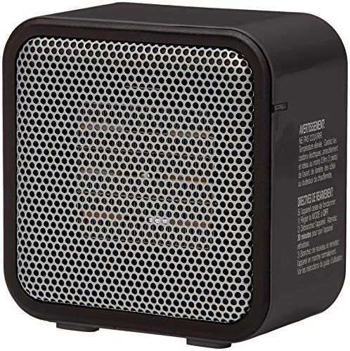 AmazonBasics 500-Watt Ceramic Small Space Personal Mini Heater - Black