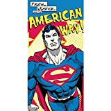 Superman DC16014 Beach Towel, Kids, Boy, Cotton, 140 X 70 Centimeters by KIDS LICENSING