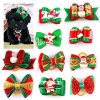 Didog 20pcs Dog Cat Grooming Accessories Hair Bow for Christmas Party 7