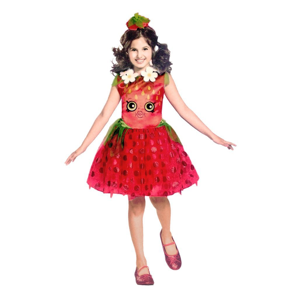 Disguise Shopkins Strawberry Classic Costume, One Color, Small/4-6