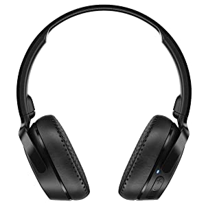 Skullcandy Riff On-Ear Headphones Wireless (Moss/Olive/Yellow) with Rapid Charge 10 Minutes = 2 Hours