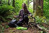 Cascade Mountain Tech Aluminum Folding Travel Trekking Pole with EVA Grips for Hiking and Walking