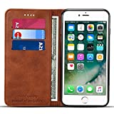 Wallet Case Compatible iPhone 6 / iPhone 6s, Premium PU Leather Wallet Case Flip Folio [Kickstand Feature] with ID&Credit Card Pockets for iPhone 6s/ 6 4.7 inch Brown