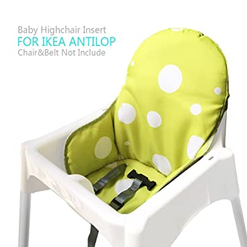 Zama Chaise Haute Coussin Housse Pour Ikea Antilop Bébé Childs Chaise Lavablepliableninclut Pas La Chair Haute Et La Ceinture De Sécuritévert