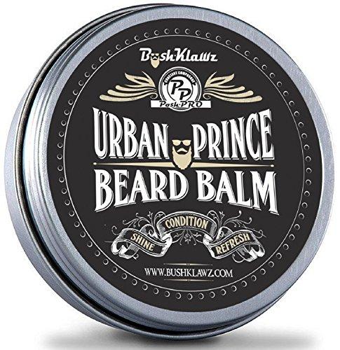 Urban Prince Beard Balm Leave in Conditioner Beard Butter Moisturizer Premium Refreshing Scent 2 oz - Best Leave in Conditioner Scented Beard Balm Gift Bearded Men